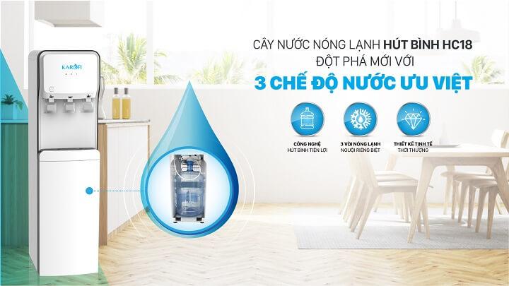 Cây nước nóng lạnh karofi hc18