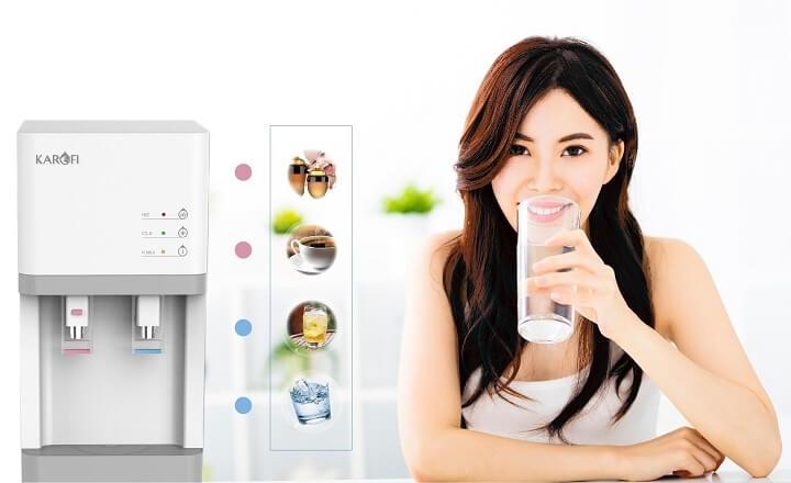 máy lọc nước karofi 2 vòi nóng lạnh HCV200RO