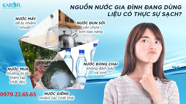 nguồn nước nhà bạn có thực sự sạch