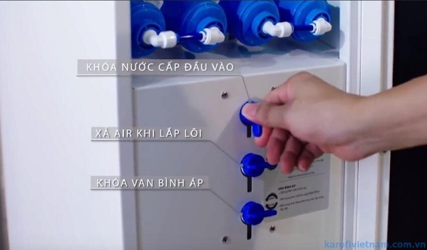 hướng dẫn thay lõi lọc nước karofi