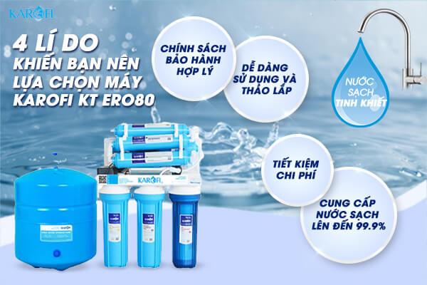 ưu điểm máy lọc nước karofi kt ero80