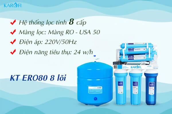 Máy lọc nước karofi kt-ero80 không vỏ tủ