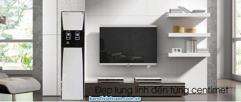 máy lọc nước ro nóng lạnh karofi hcv351-wh